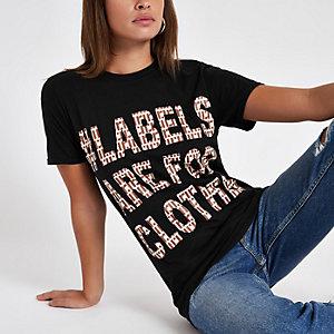 Ditch the Label – Schwarzes T-Shirt