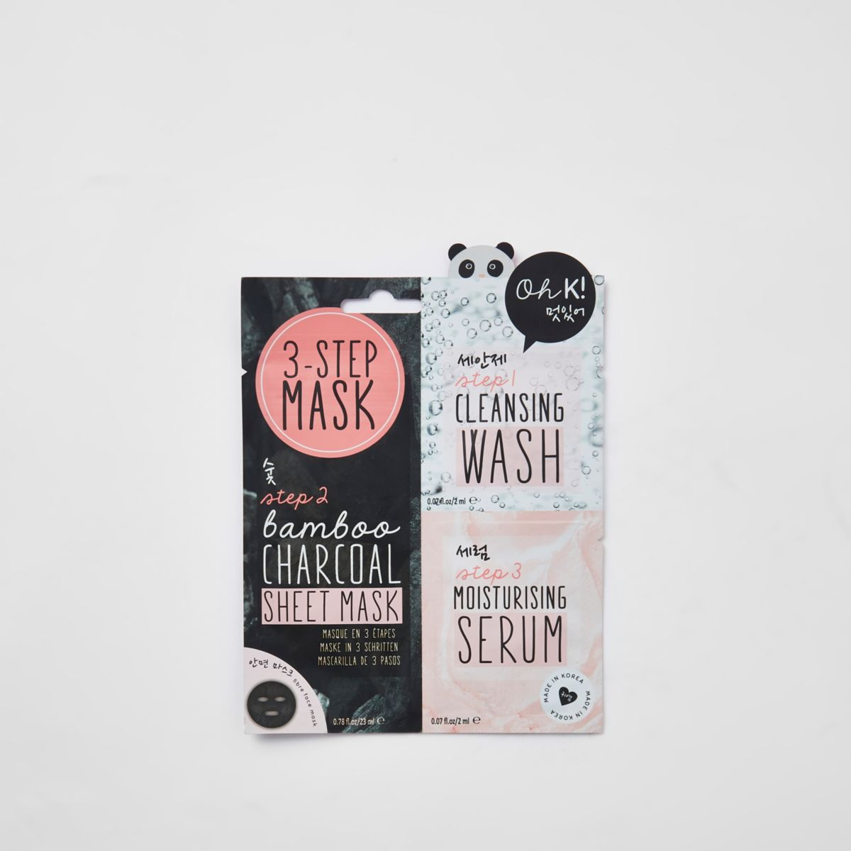 Oh K! 3 step charcoal face mask