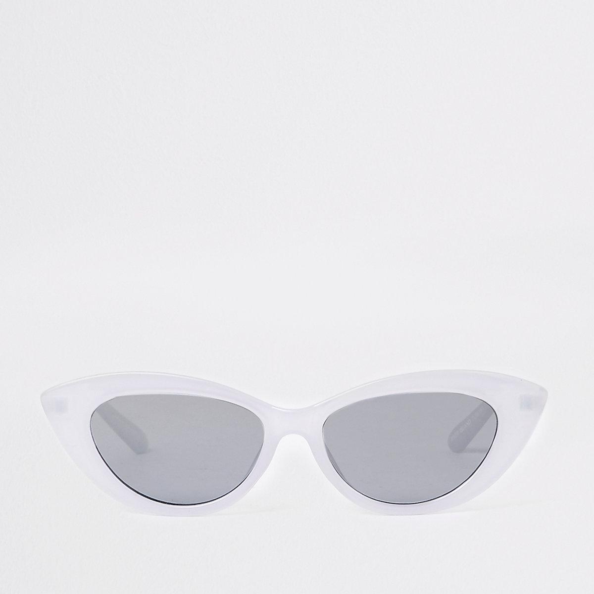 Light purple slim cat eye sunglasses