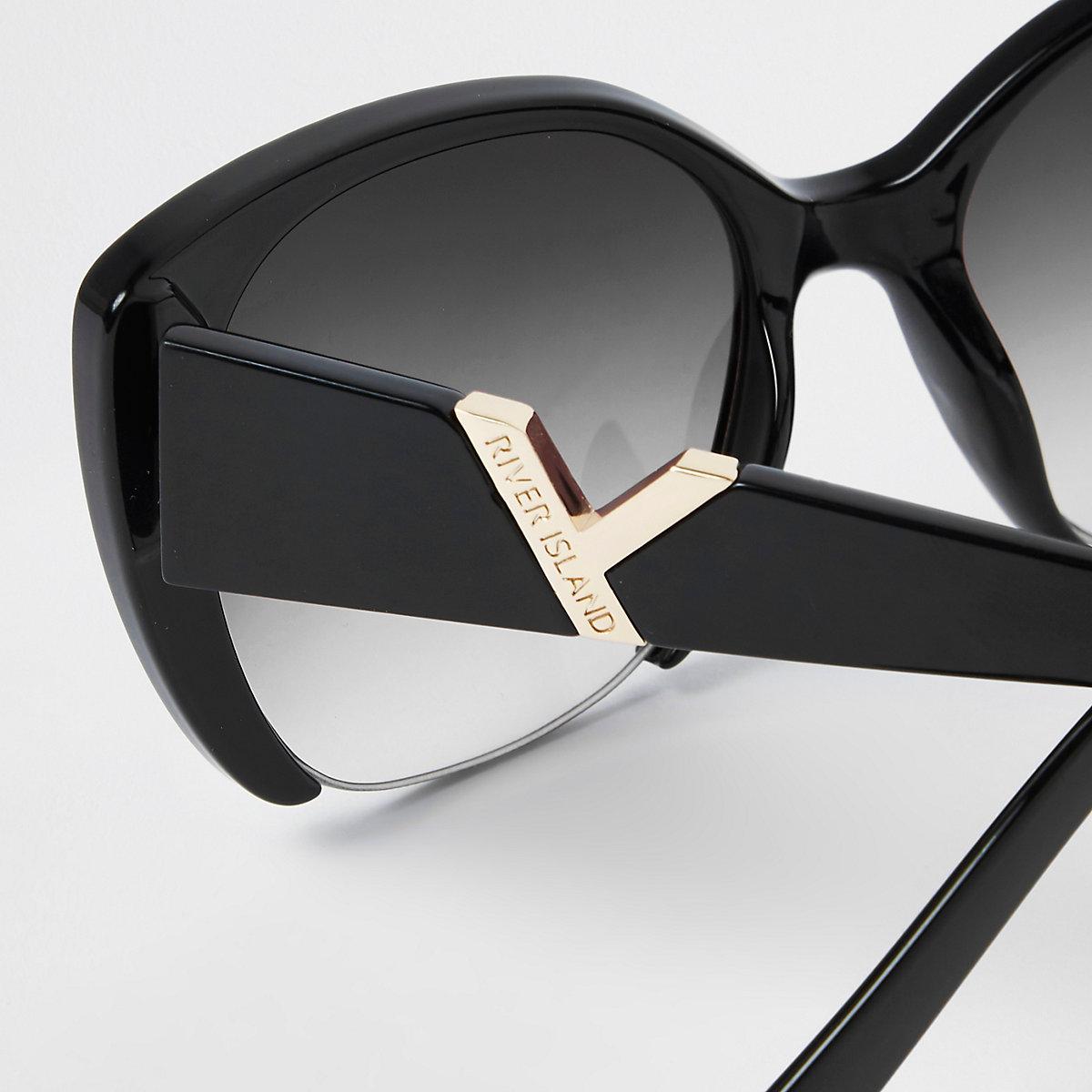 Black smoke lens cat eye glam sunglasses - Cat Eye Sunglasses ... 797a70451d