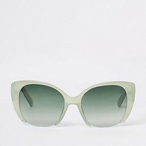 Grüne Cateye-Sonnenbrille