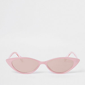 Pink slim cat eye sunglasses