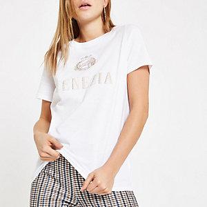 T-shirt blanc brodé «Venezia»