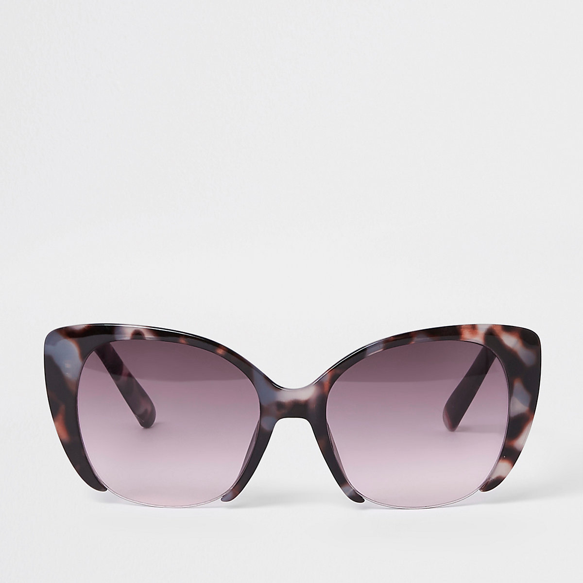Brown tortoise shell pink lens sunglasses
