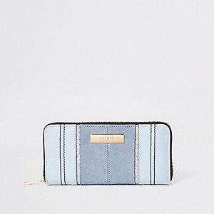 Porte-monnaie bleu clair zippé