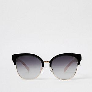 Goldene Oversize Sonnenbrille