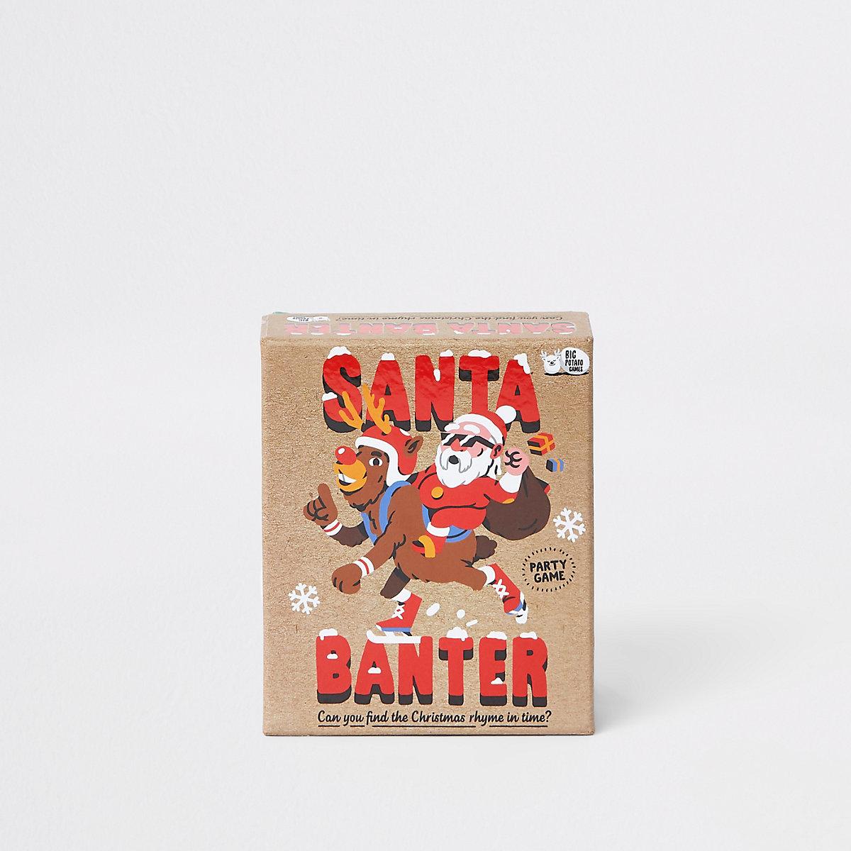 'Santa banter' party game
