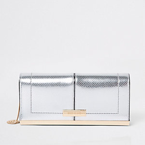 Clutch in Silber