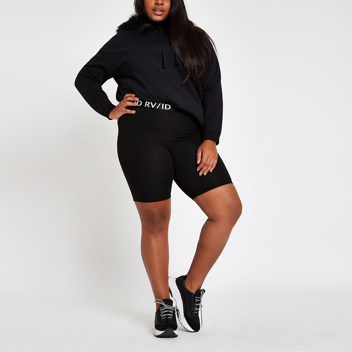 Plus black RI cycling shorts