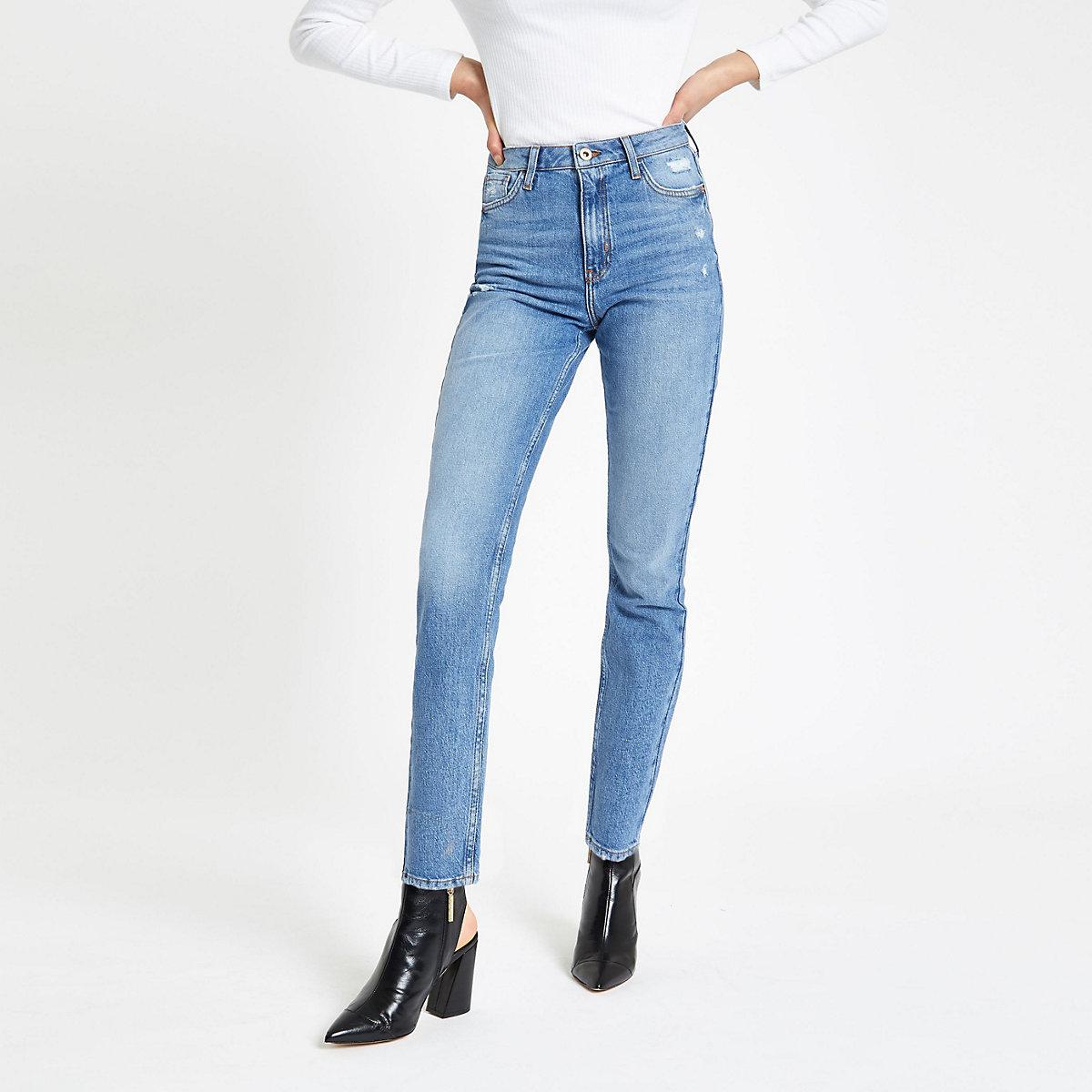 Denim mid skinny fit rigid jeans