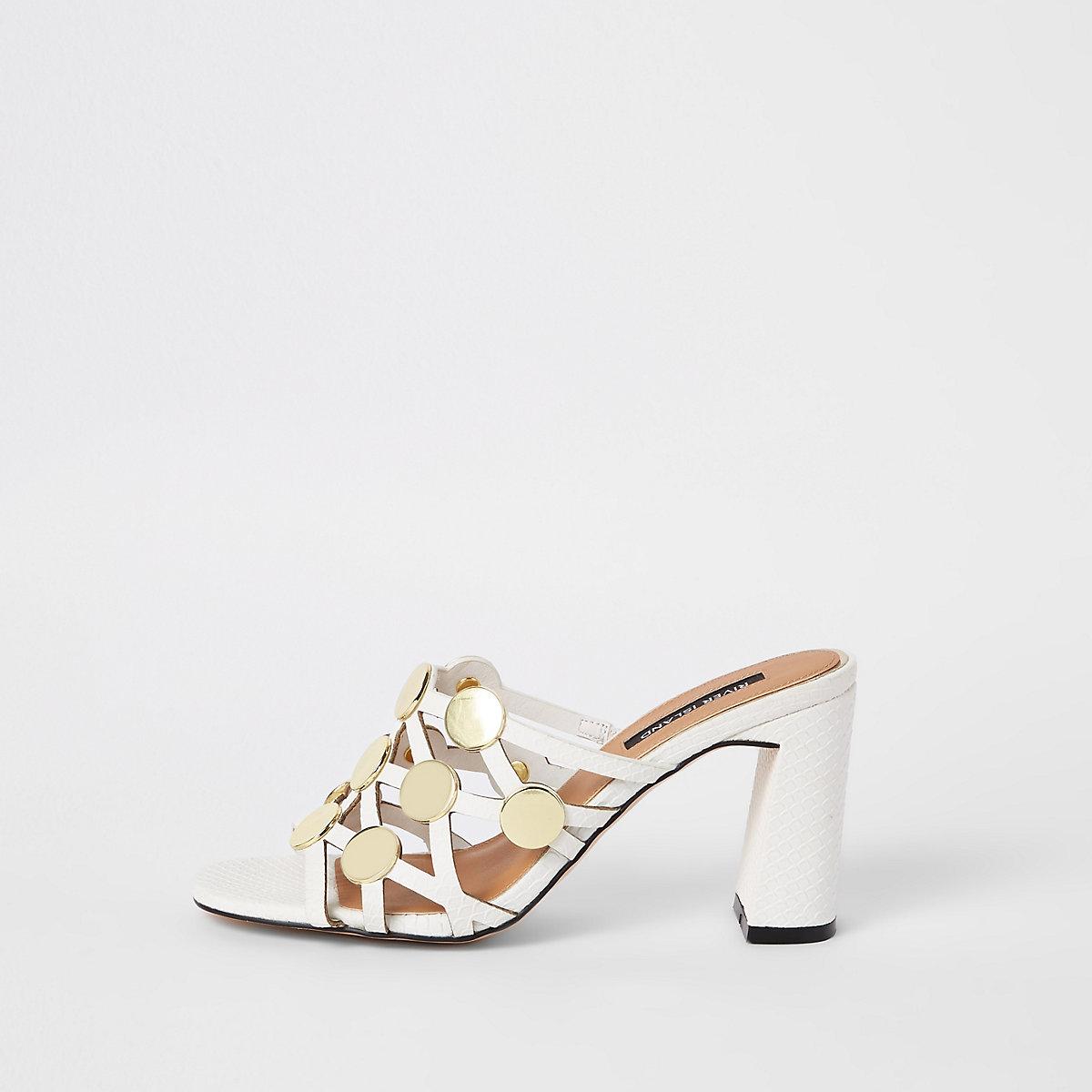 Blokhak En amp; Laarzen Witte Sandalen Met Schoenen Cirkel wfCITq