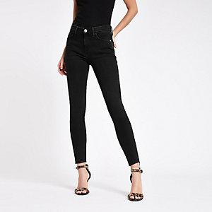 Amelie – RI Super Skinny Jeans in schwarzer Waschung