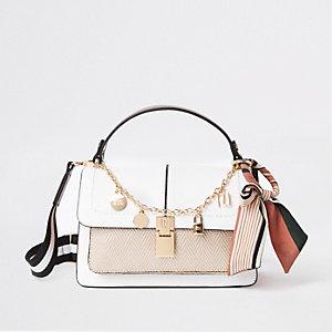 White cross body satchel bag