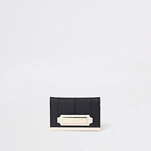 Black travel card holder