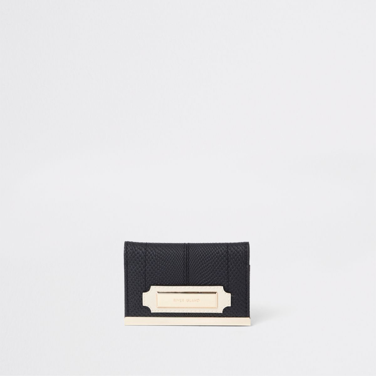 Black travel card holder