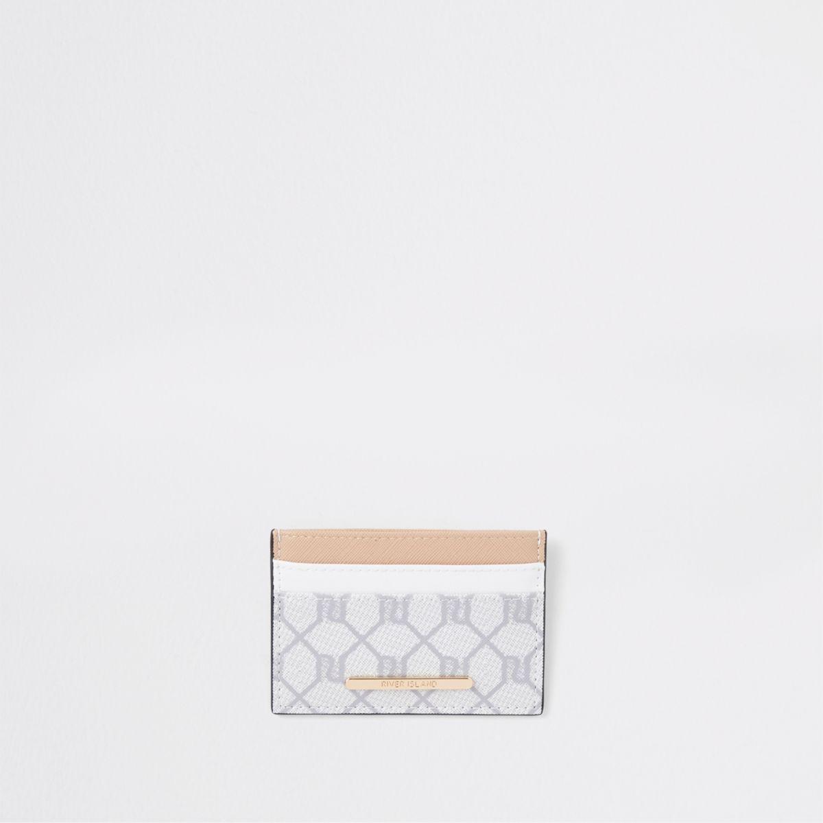 Porte-cartes de voyage beige à logo RI