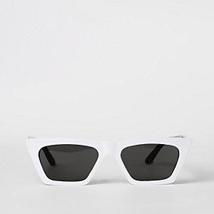 Weiße Visor-Sonnenbrille