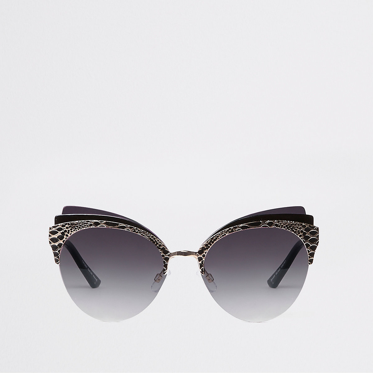 Gold color triple layer cat eye sunglasses