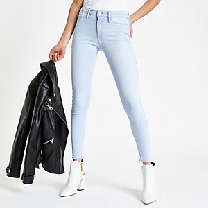 Light blue Molly frayed jeggings