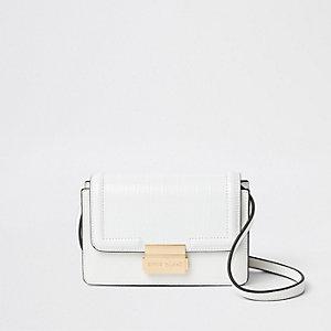 Weiße Mini-Umhängetasche