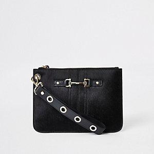 Schwarze Clutch aus Leder
