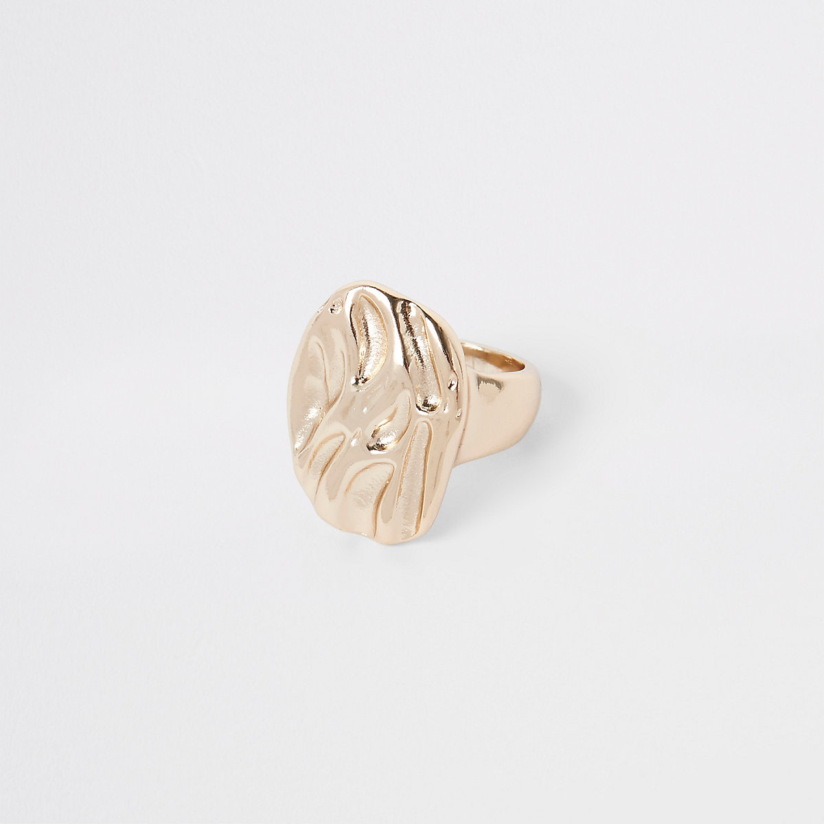 Gold tone chunky ring