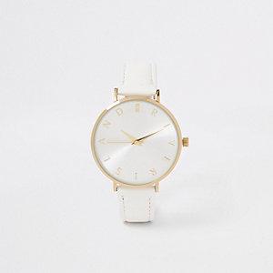 Goudkleurig RI horloge met witte wijzerplaat