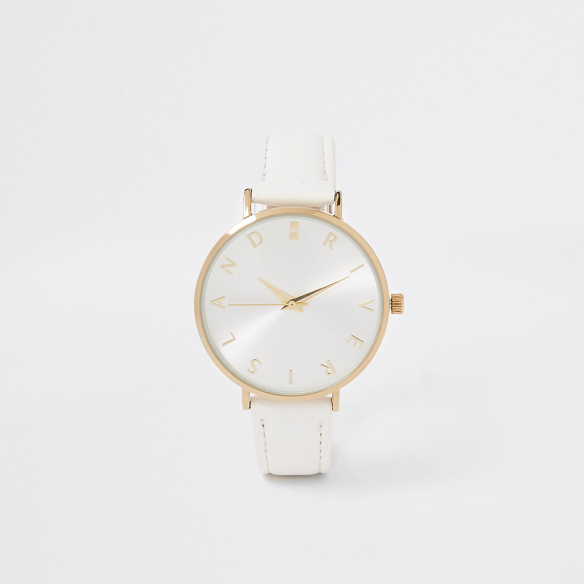 White gold color RI face watch
