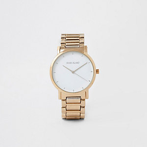 Gold color bracelet watch