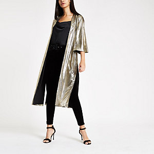 Gold metallic kimono