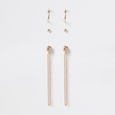Gold Tone Mixed Earring Multipack by River Island