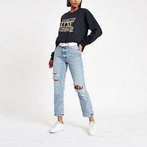 "Marineblaues Sweatshirt ""Luxe"""