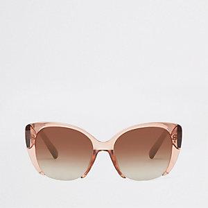 Beige cat-eye-zonnebril
