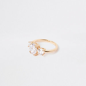 Gold color cubic zirconia ring