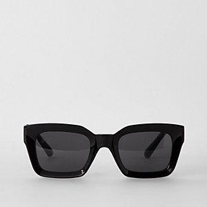 Zwarte glamoureuze zonnebril met grijze glazen
