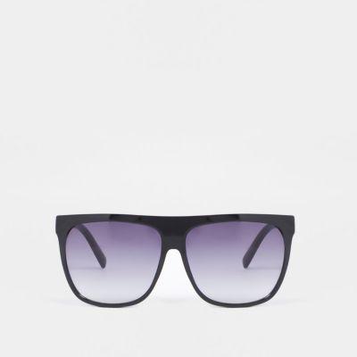Black flat top visor sunglasses - Oversized Sunglasses - Sunglasses - women d19c8e806e31