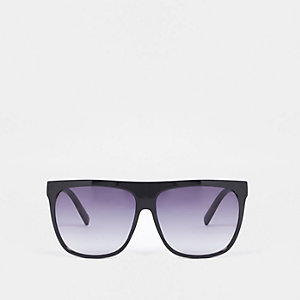 Black flat top visor sunglasses