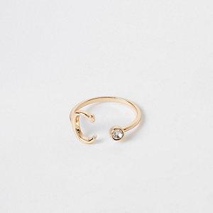 """Goldener Ring """"C"""""""