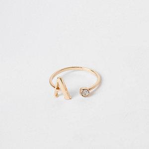 """Vergoldeter Ring """"A"""""""