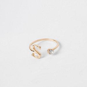 """Vergoldeter Ring """"S"""""""