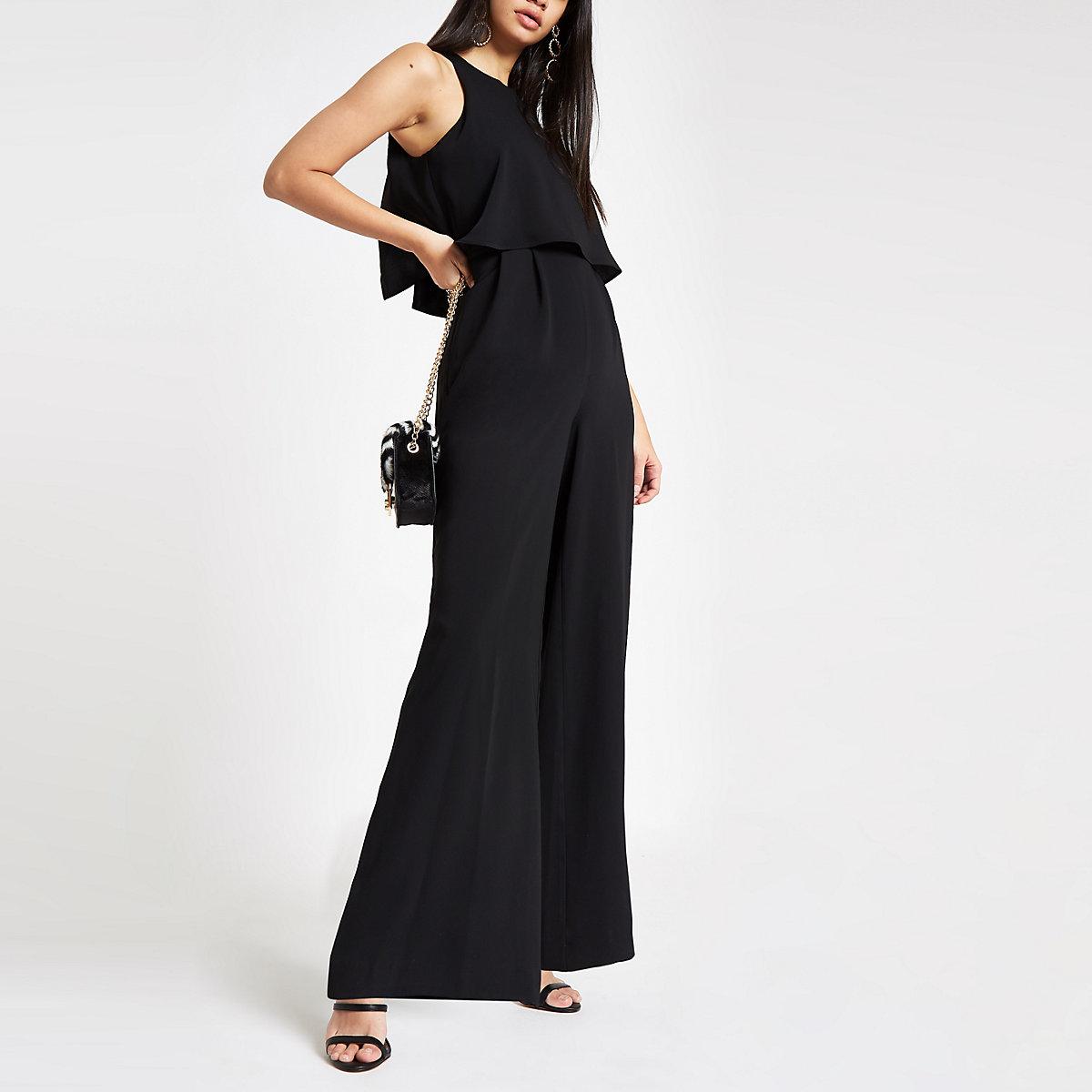 Black wide leg jumpsuit