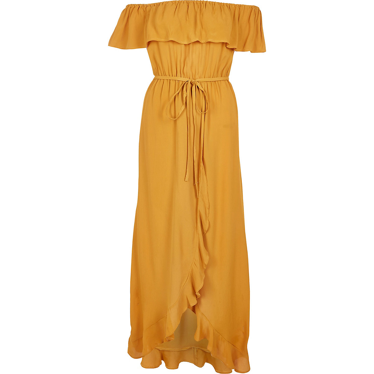 Ruffle Bardot Dress