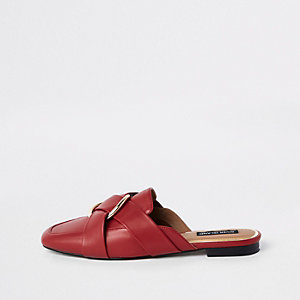 Red ring backless Loafer