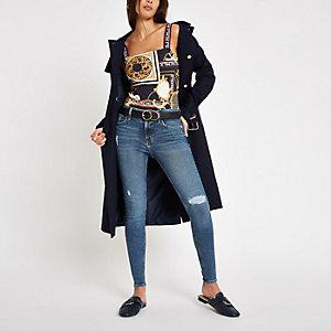 Amelie ripped skinny jeans in middelblauw