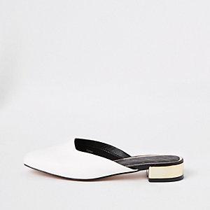 Loafer mit eckiger Zehenpartie
