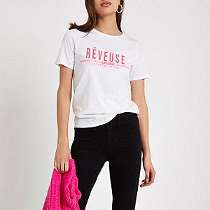 "Weißes T-Shirt ""reveuse"""