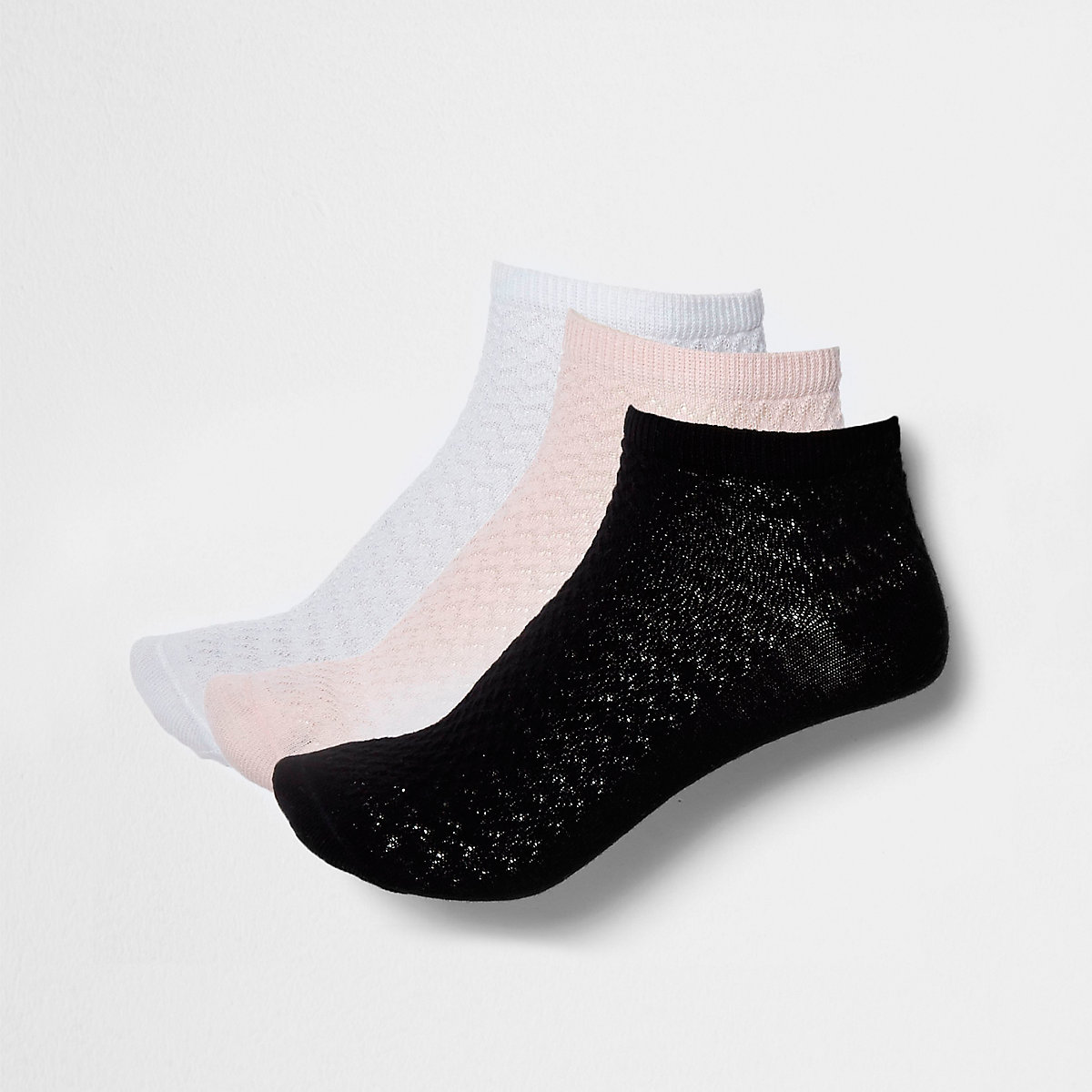 Multicoloured trainer socks multipack