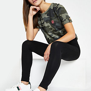Petite black high waist leggings
