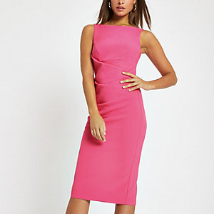 Leuchtend pinkes Bodycon-Midikleid
