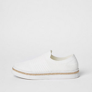 Baskets en maille blanches style espadrilles